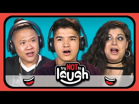 YouTubers React To Try To Watch This Without Laughing or Grinning 10