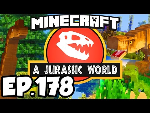 Jurassic World Minecraft Modded Survival Ep.178 REVISITING THE OLD VILLAGE Dinosaurs Mods
