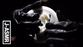 [音フェチ]革手袋で耳をマッサージ😎🙌👂 - Leather Gloves Ear Massage[ASMR]