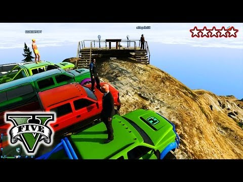 GTA 4x4 OFF ROADING CUSTOM TRUCKS GTA 5 Hanging With the Crew Grand Theft Auto 5