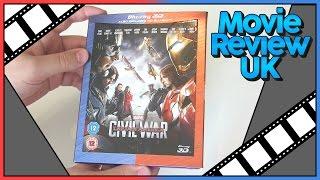 Captain America : Civil War 3D Blu-Ray Unboxing UK