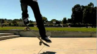 NOLLIE SLOW MOTION SKATEBOARD TRICK