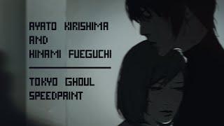 ayato kirishima and hinami fueguchi / tokyo ghoul [speedpaint]