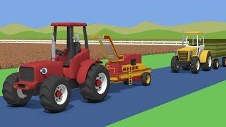 Tractor For Kids - Potaoes Digging | Farm Work | Bajki Traktor | Traktory - Kopanie Ziemniaków