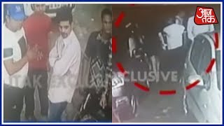 Eve Teasers Caught On Camera In Gurgaon Outside Liquor Shop