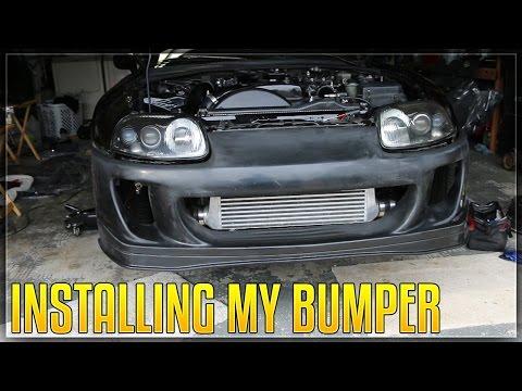 Installing My Ridox Front Bumper On My SUPRA!