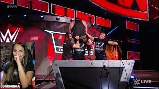 WWE Raw 10/9/17 The Shield meets Braun Strowman