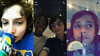 Finn Wolfhard ► Snapchat Story ◄ 28 April 2017 w/ Stranger Things Squad