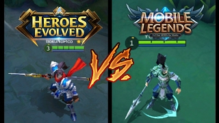 HEROES EVOLVED VS MOBILE LEGENDS     MUST WATCH THIS !!!