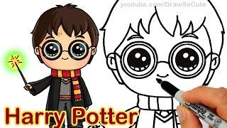 How to Draw Harry Potter Easy Chibi
