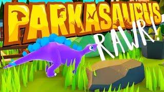 The BEST JURASSIC PARK Ever! - New DINOSAUR GAME! - Parkasaurus Gameplay