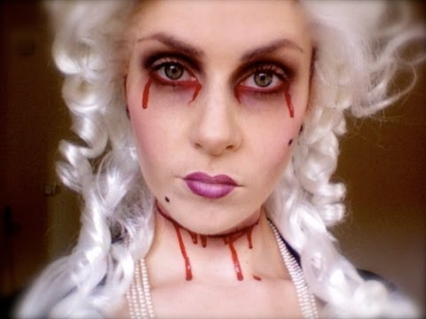 Marie Antoinettes ghost Halloween Makeup; Let them eat cake