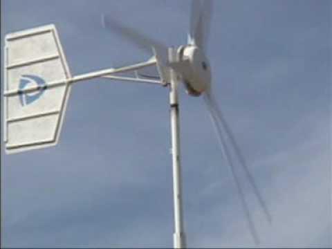 Aerogenerador eolico de fabricacion artesanal casera