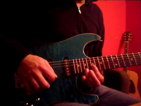 TOTO - While My Guitar Gently Weeps solo cover  ( by davideredroom ) XxxX