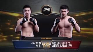 ONE Championship, Saygid ''Dagi'' Arslanaliev vs. Ma Jia Wen  (ONE FC 42)