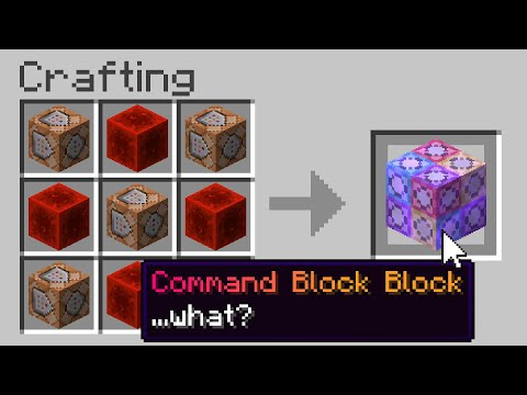 Minecraft But There Are Custom Command Blocks