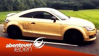 Audi TT in Gold! Die Verarbeitung von Blattgold auf Autos | Abenteuer Leben | kabel eins