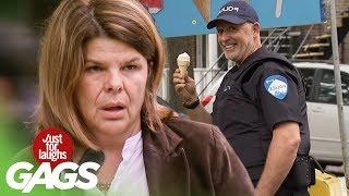 Arresting Bad Guys While Licking Ice Cream PRANK!