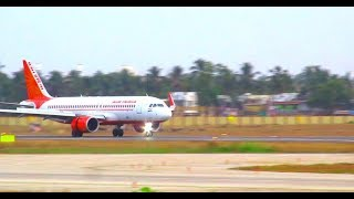 Busy Trivandrum International airport....New parallel taxiway operations