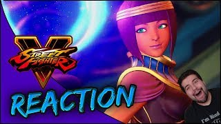 ANOTHER BAREFOOT WAIFU!! 💜💜💜 | Street Fighter V Menat Reveal Trailer Reaction!