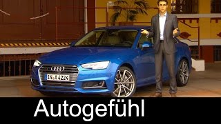 Audi A4 Sedan Limousine 2.0 TFSI 252 hp FULL REVIEW test driven all-new neuer 2016