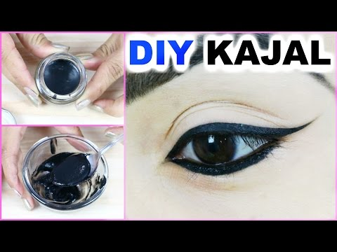 DIY Kajal At Home - Smudge Free, Long Lasting, Blackest Black, 100% Natural | PrettyPriyaTV