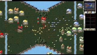 Red Alert 1 HD - V3-Ribbon Isle 2k12 Multiplayer gameplay 2vs2 - C&C ra1 Online CnCNet 1280 720