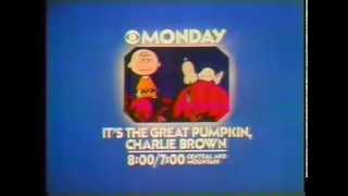 it's the great pumkin charlie brown - CBS tv spot