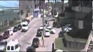 Deadly double car bomb blast caught on CCTV