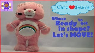 2004 Care Bear Fun N' Fit Rainbow Cheer Bear Plush toy by TCFC