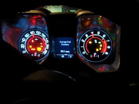 Inside view of starting my 2010 CAMARO at night time...