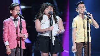"""الفائز في مرحلة المواجهة فريق نانسي """" يائيل - جيسيكا - زين """" ذا فويس كيدز - The voice kids"""