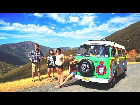 1 guy 3 girls 6 weeks and 10 000 miles Road Trip in a VW Bus 2014