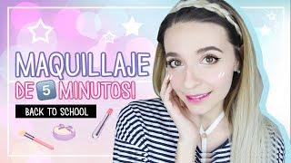 Maquillaje coreano de 5 minutos - Regreso a clases | Cecie