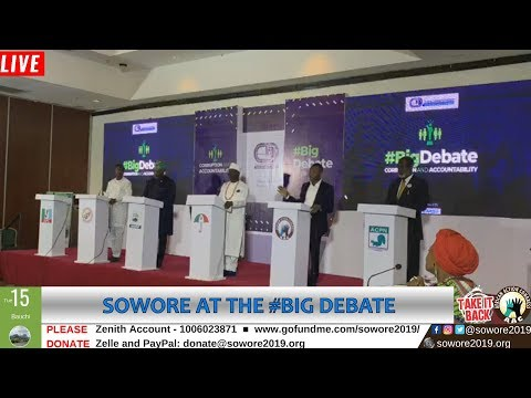 Xxx Mp4 LIVE Omoyele Sowore Speaking At The Bigdebate Center For Democracy Development TakeItBack 3gp Sex
