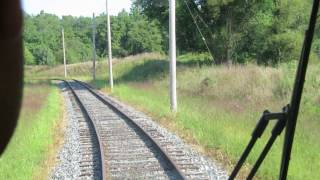 RIding the trolley at National Capital Trolley Museum - Washington DC