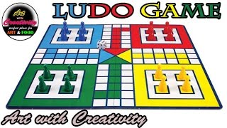 How to make a LUDO GAME at home | DIY | GAME | Art with Creativity 166