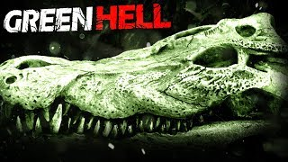 FIGHTING THE BLACK CAIMAN?! - Giant Caiman Battle & New Map Exploration! - Green Hell Gameplay