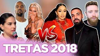 MAIORES TRETAS DE 2018: KANYE VS. DRAKE, CARDI B VS. NICKI, KÉFERA VS. LUBA...  | Foquinha FBI