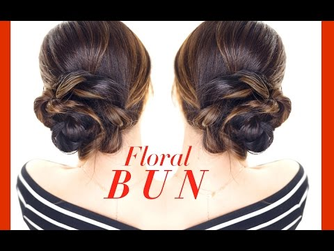 Xxx Mp4 FLORAL Side BUN Hairstyle 👸★ Easy Holiday Updo Hairstyles 3gp Sex