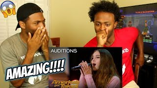 """Makayla Phillips: 15-Year-Old Receives Golden Buzzer For """"Warrior"""" - America"""