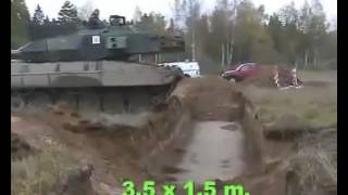 Tank crossing a trench, Low speed Vs. High speed.