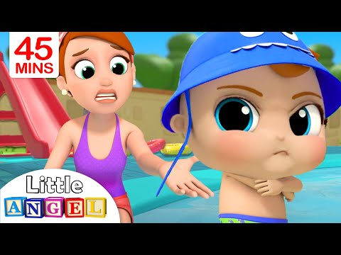 No No Swimming Baby John s Water Adventures & More Nursery Rhymes by Little Angel