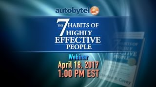 7 Habits of Highly Effective People - Presented by Certified FranklinCovey Trainer Karen Bradley