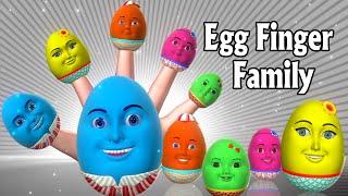 Finger Family Nursery Rhymes | Egg Finger Family song | 3D Finger Family Rhymes & Kids songs