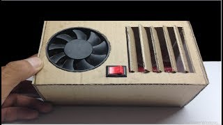 How to make air conditioner at home using cardboard DIY - Easy life hacks