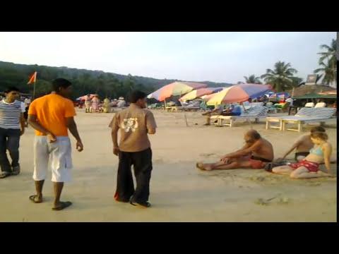 Goa Anjuna Beach Crowd