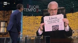 Maurizio Crozza e la parodia di Vittorio Feltri - Che fuori tempo che fa 25/09/2017
