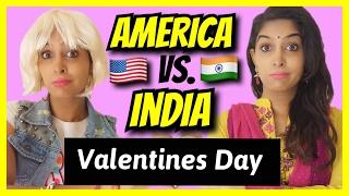 American Girls VS. Indian Girls | Valentines Day | #AnishaTalks