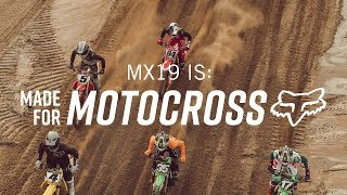FOX MX | MX19 IS MADE FOR MOTOCROSS  | RICKY CARMICHAEL, KEN ROCZEN, RYAN DUNGEY, ADAM CIANCIARULO